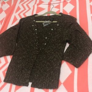 BKE Sweaters - A brown over piece